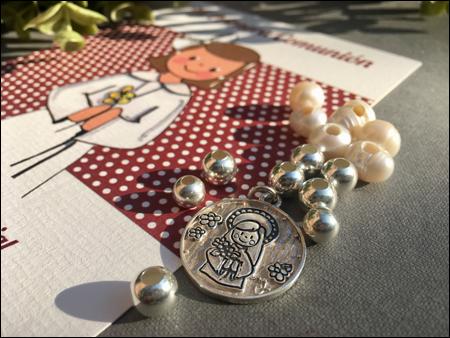 medalla plata comunion