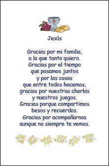 Jesús Gracias por la Familia