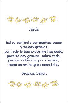 Jesús estoy contento por muchas cosas