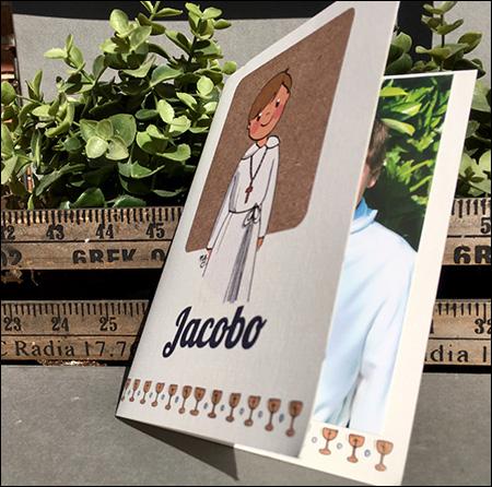 foto tarjetas de comunion modelo nelyamano