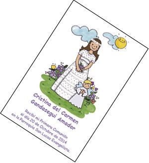 recordatorios invitaciones y detalles de comunion